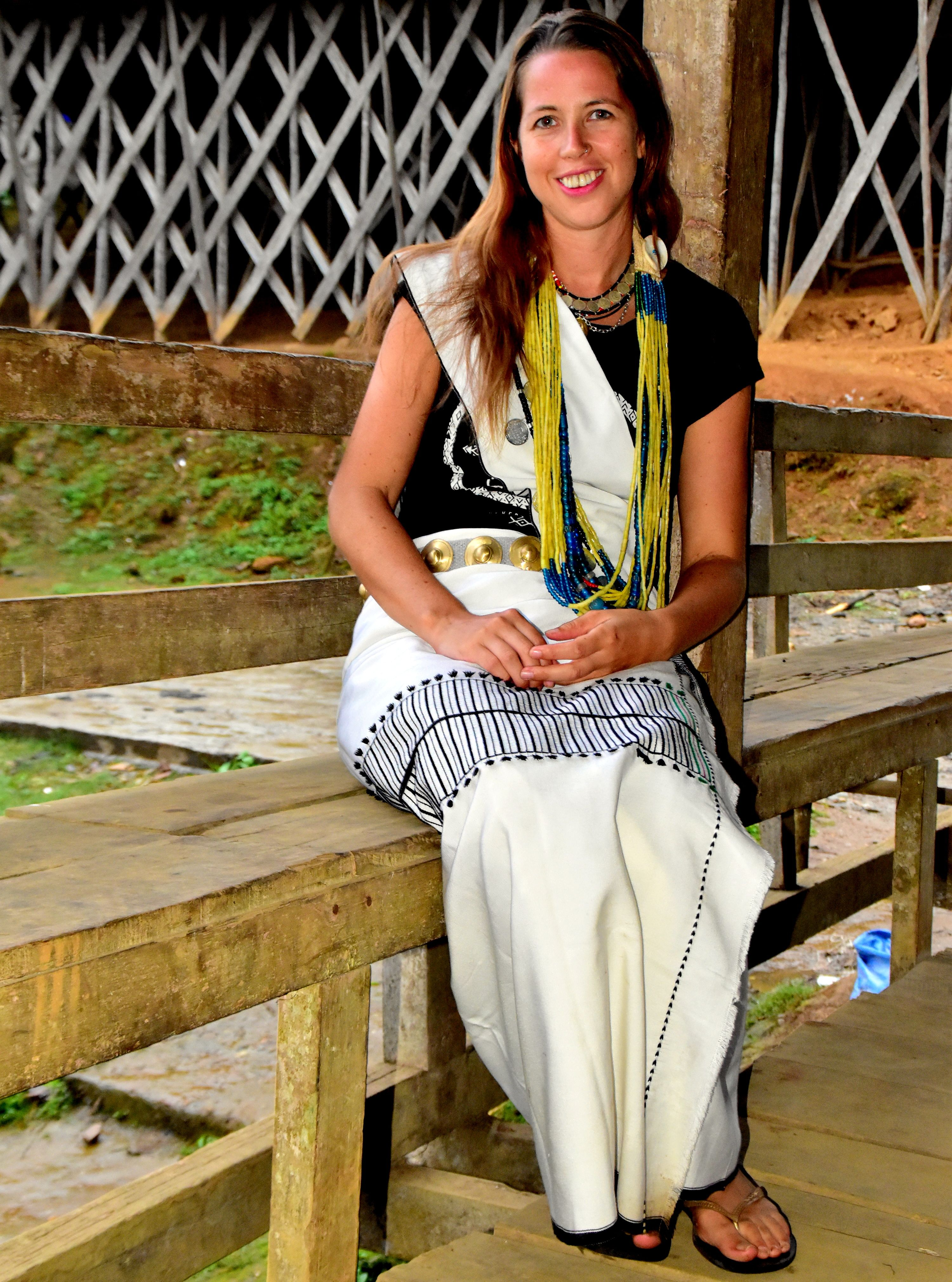 Anna From Global Gallivanting In Galo Tribe Attire In Aalo Arunachalpradesh Arunachal Pradesh India Attire