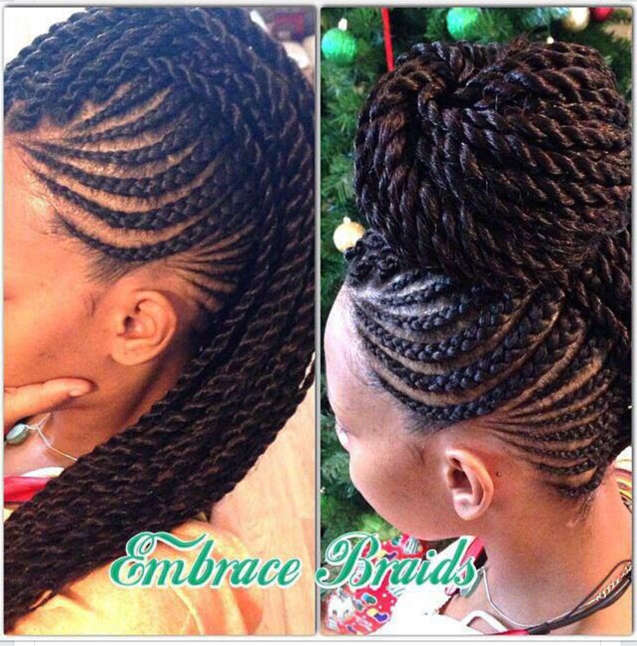 Cornrowstwist mohawk protective hair styles to try pinterest