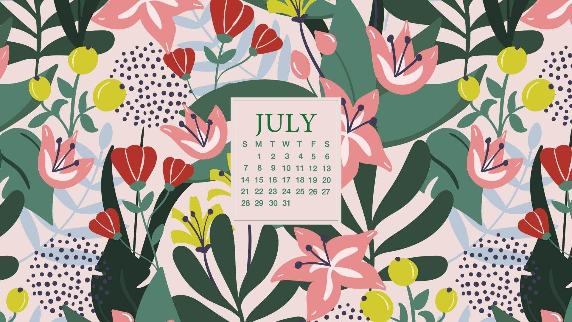 July 2020 Desktop Calendar Background Desktop Wallpaper Calendar Calendar Wallpaper Desktop Calendar