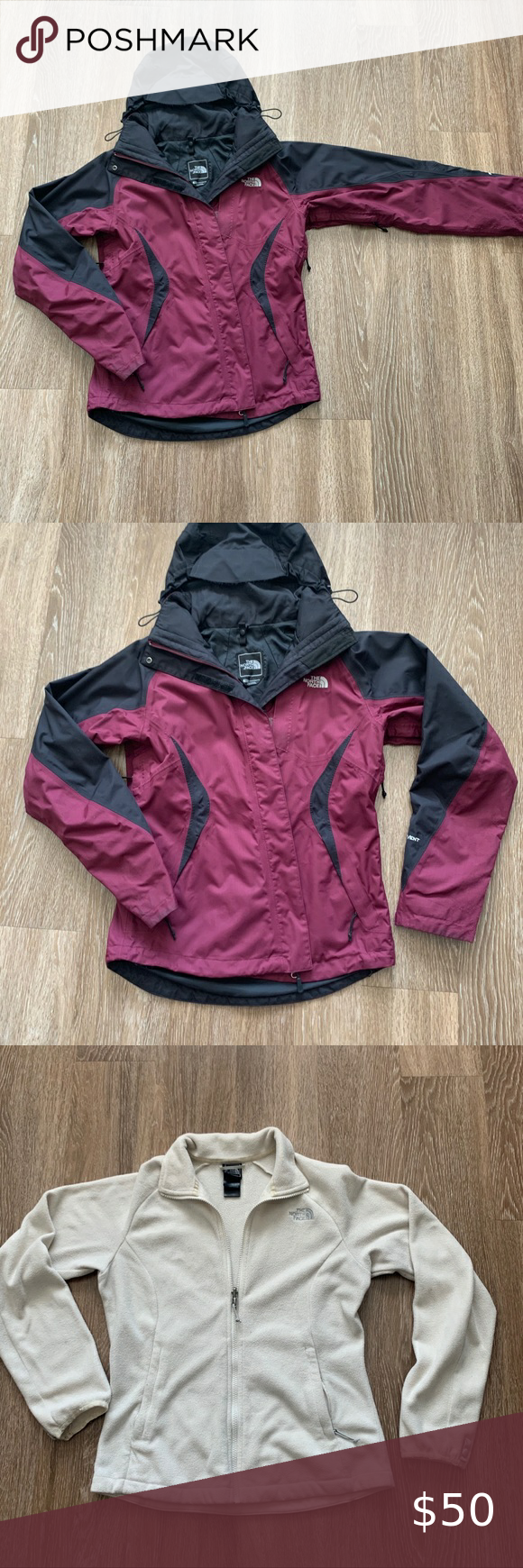 North Face 2 In 1 Jacket And Fleece In 2020 Jackets The North Face Black North Face [ 1740 x 580 Pixel ]