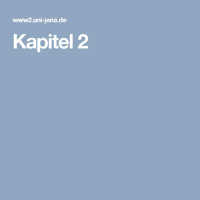 Kapitel 2