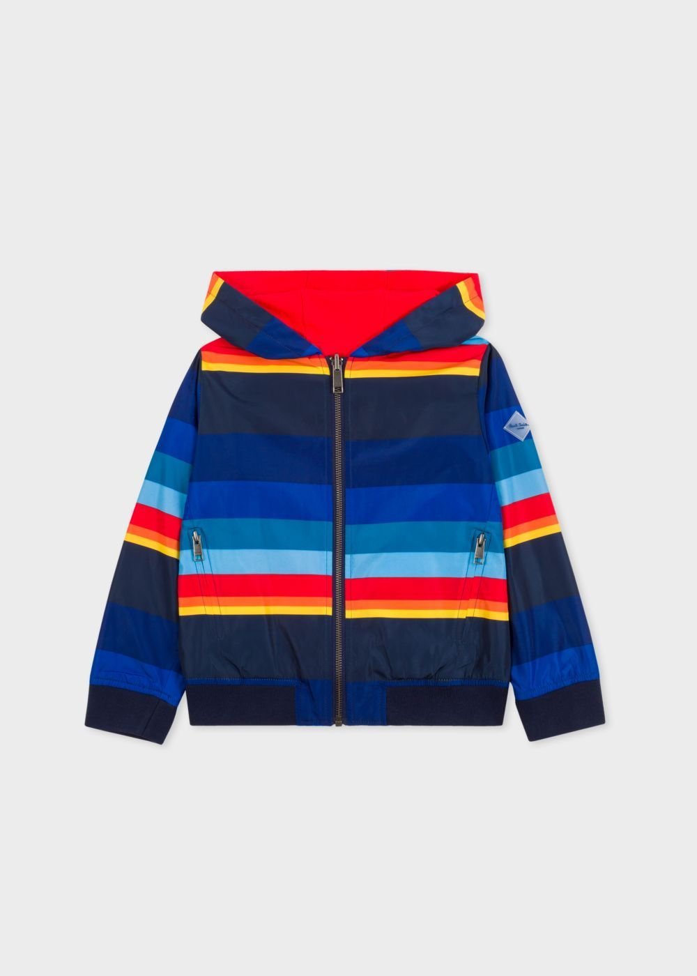 Boys 2 6 Years Multi Coloured Stripe Reversible Jacket Paul Smith Junior Paul Smith Kids Outerwear Clothes Design Reversible Jackets [ 1400 x 1000 Pixel ]
