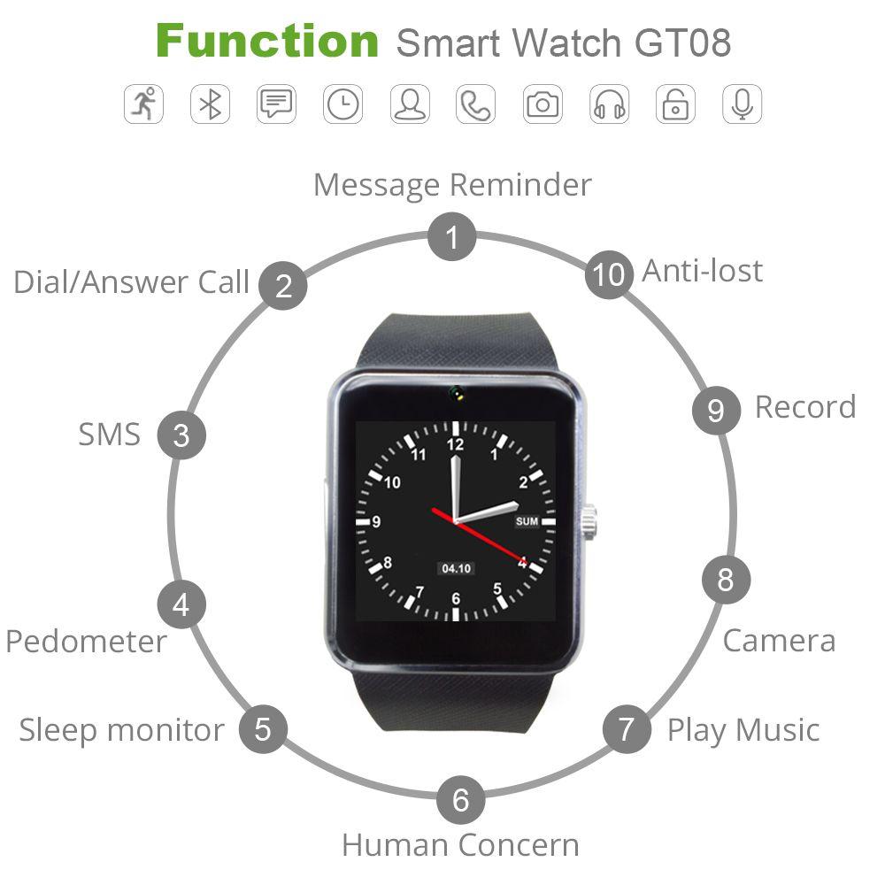 Colmi smart watch gt08 clock with sim card slot push