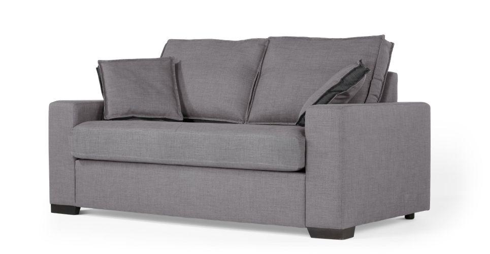 hugo un canap convertible 2 places ardoise et charbon canap s fauteuils. Black Bedroom Furniture Sets. Home Design Ideas