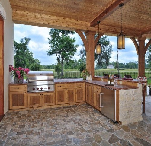 Beautiful Outdoor Kitchen Add A Stove Top And You Could