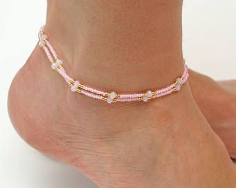 anklet bead beach jewelry pin gift bracelet women seed for anklets her foot beaded