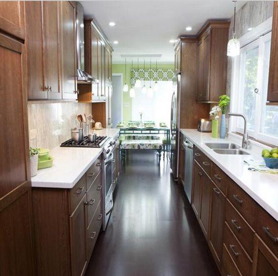 decorar cocinas alargadas buscar con google - Cocinas Alargadas