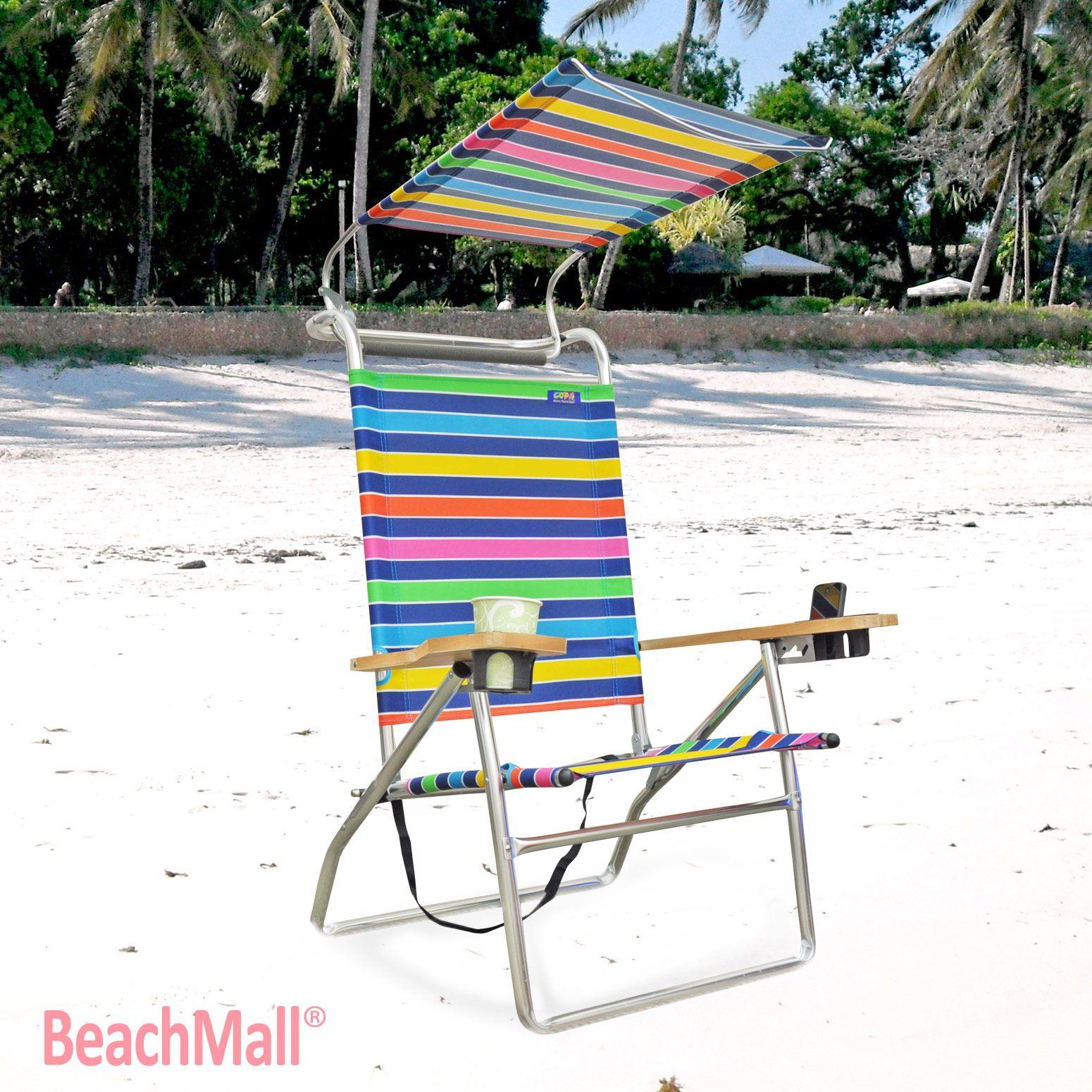 Rio Brands Genuine Beach Bum Chair w Cup holder