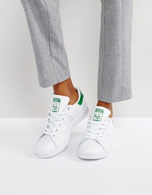 adidas Originals Stan Smith sneakers in white and green   ASOS