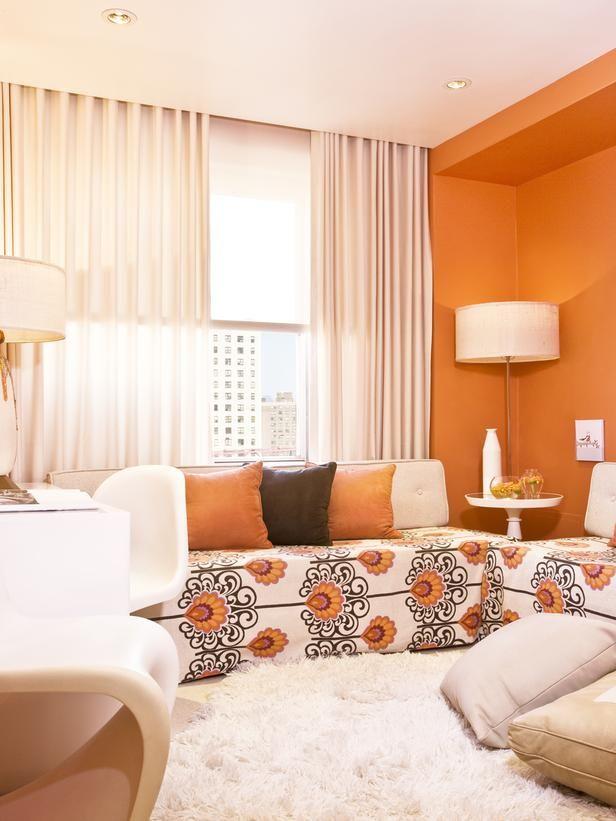 Small Living Room Design Ideas and Color Schemes  Home  HGTV - kleine wohnzimmer design