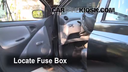 interior fuse box location: 2000-2005 toyota echo 2001 toyota echo 1.5l 4  cyl. (4 door) | toyota echo, fuse box, toyota  pinterest