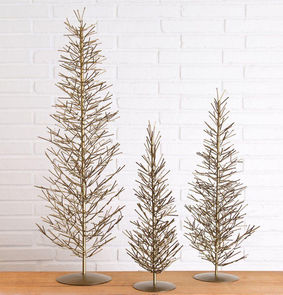 Antique Brass Wire Evergreens | Christmas Decor | Magnolia Christmas ...