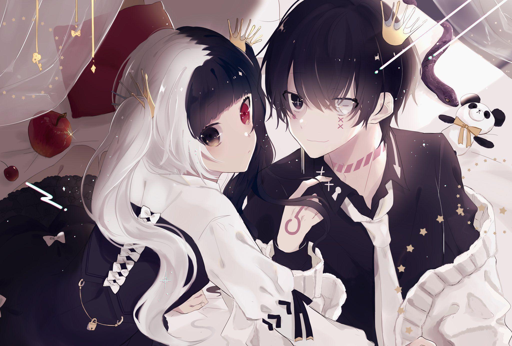 86 ゙ On Twitter Anime Eyes Anime Black Hair Anime Siblings