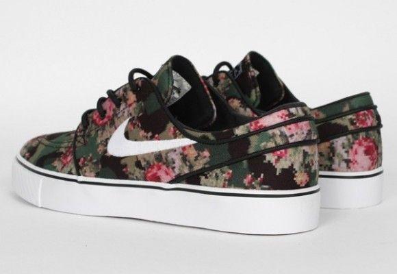 "5f2bf016f0 NIKE SB Zoom Stefan Janoski ""Digital Floral""   Shoes   Camo shoes ..."