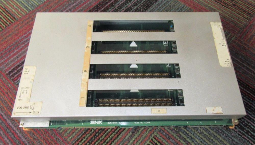 Neo geo snk 4-slot jamma arcade pcb motherboard neo-mvh, very clean