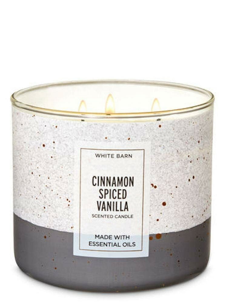 Bath & Body Works White Barn Cinnamon Spiced Vanilla Candle 3 Wick with E... New #fashion #home #garden #homedcor #candles (ebay link)