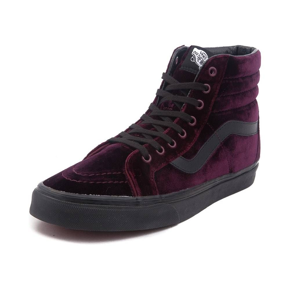 e0050b0db9  p Spice up your skate style with a velveteen twist on the classic Vans Sk8  Hi! The Vans Sk8 Hi Velvet Skate Shoe boasts a luxuriously soft velvet  upper ...