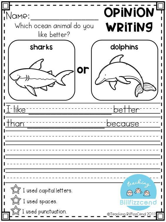 Writing for first grade