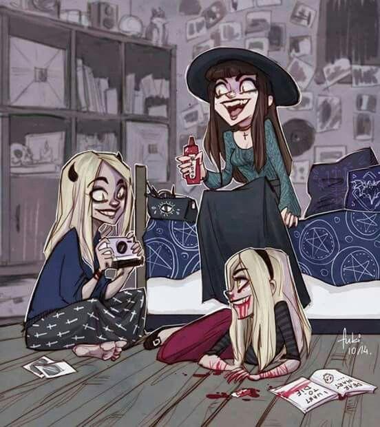 #scary #friends #three