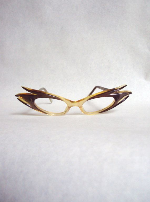 Outrageous cat eye 1950s pearlized lucite spectacle frames