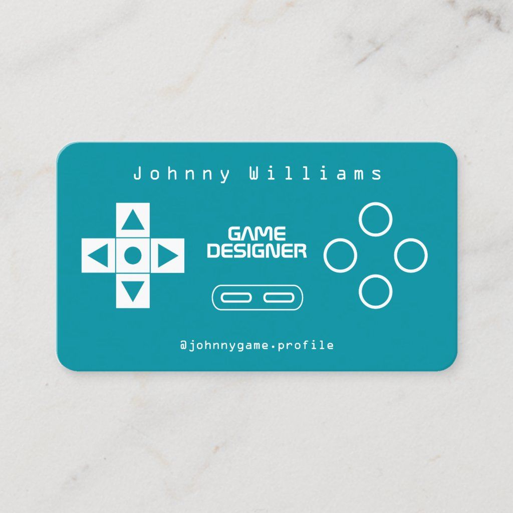 Video Game Console Joypad Cover Business Card Zazzle Com In 2021 Game Card Design Video Game Design Game Console