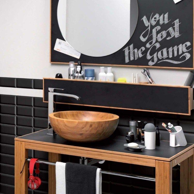 Meuble salle de bain bambou et accessoires en 50 idées