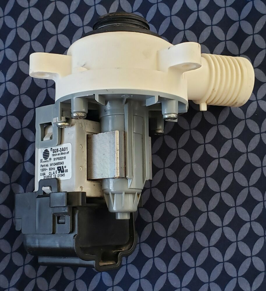Details about Whirlpool Washer Water Drain Pump W10465543