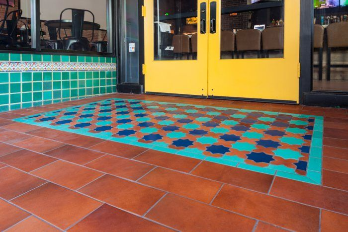 Colorful Restaurant Entry In San Jose Installation Gallery Fireclay Tile