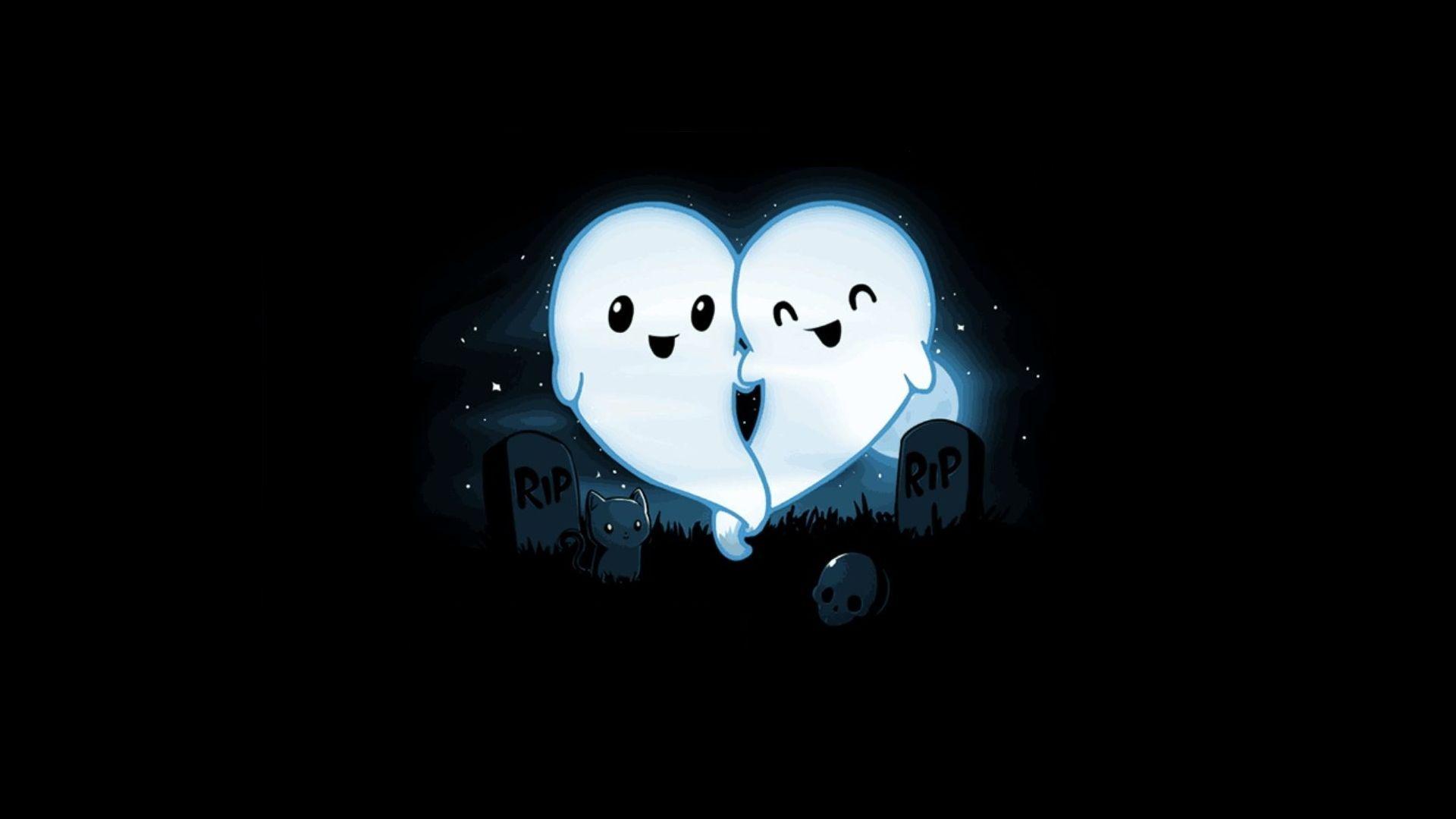 Graveyard Ghost Heart 1920x1080 R Wallpapers Cute Cartoon Wallpapers Teeturtle Cartoon Wallpaper