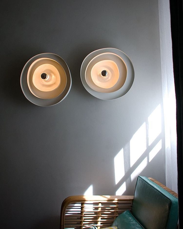 Wall Mounted Lighting Fixture By Pslab Is It Just Us But Do They Remind You Of Ceramic Plates In A Good Way Of With Images Wall Mount Light Fixture Ceramic