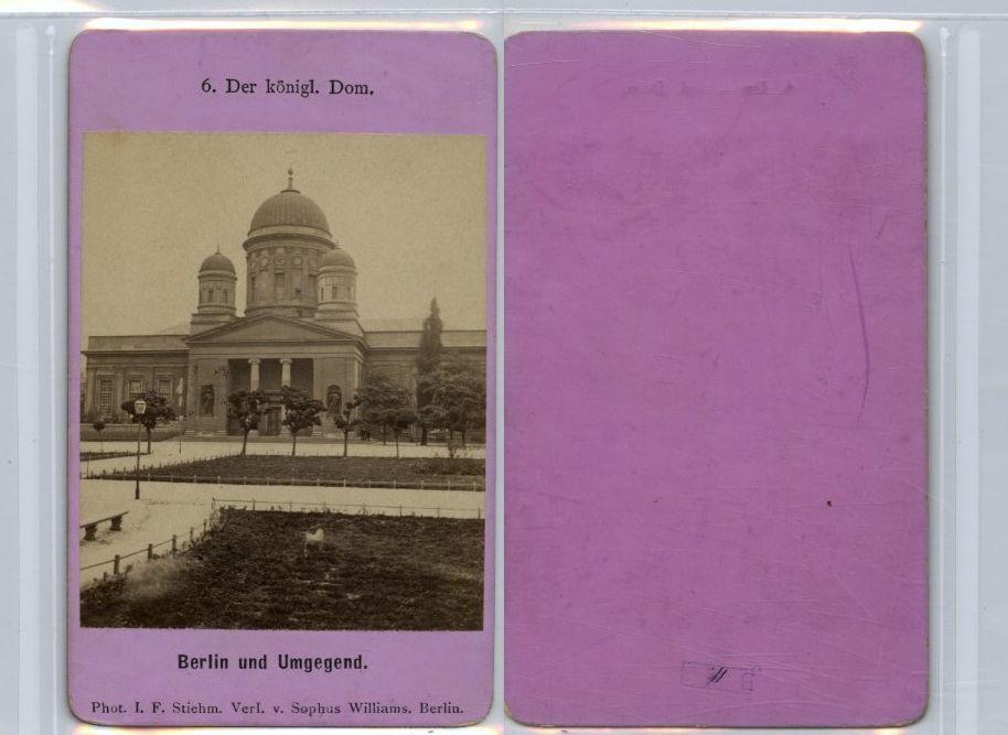 Allemagne Berlin Vue CDV Vintage Albumen Carte De Visite Tirage Albumin