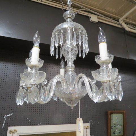Sale! Vintage antique cut glass crystal chandelier - $500 - Sale! Vintage Antique Cut Glass Crystal Chandelier - $500