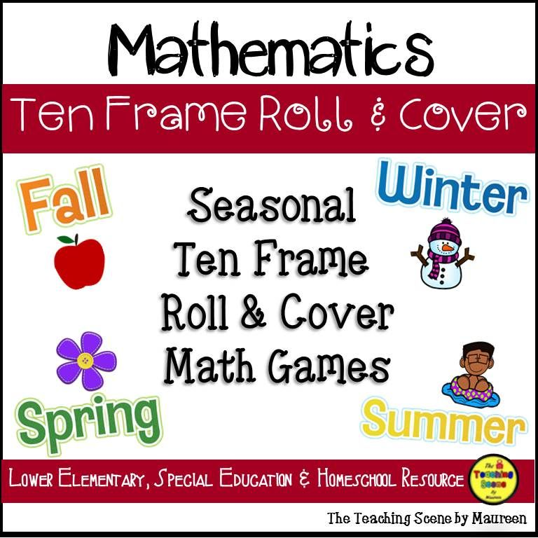 Seasonal Ten Frame Roll & Cover | Number counter, Math fact practice ...