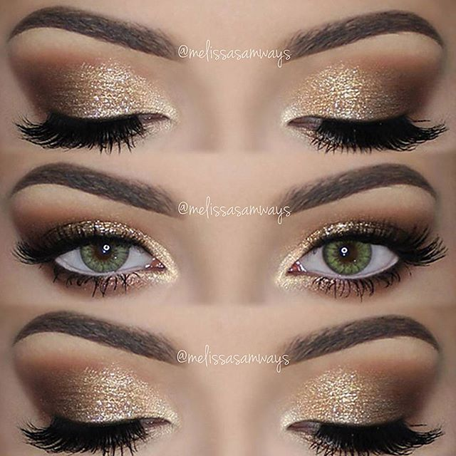 Hey Loves Soft Smokey Eyes Gold Glitter Emoji Full Tutorial