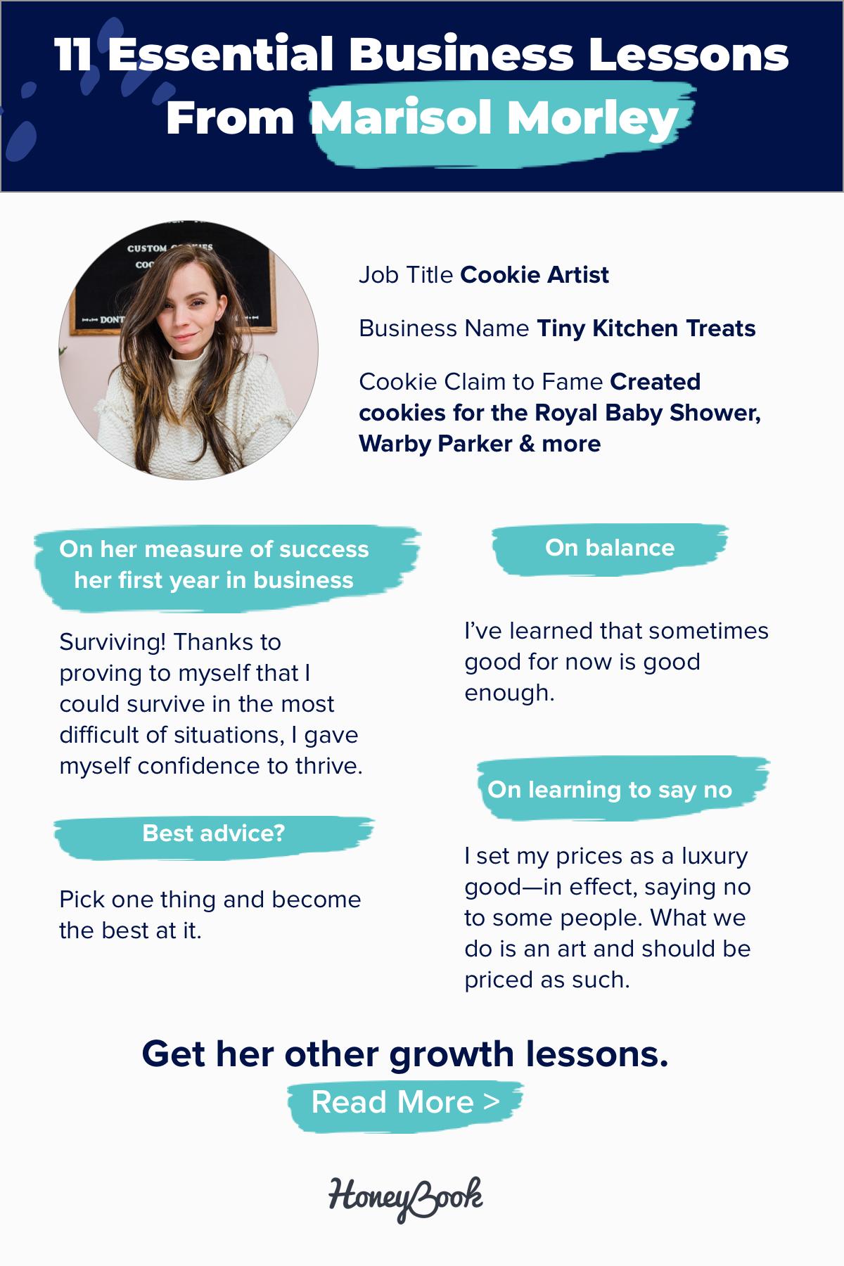 11 Essential Business Lessons From Cookie Artist Marisol Morley Honeybook Instagram Help Business Honeybook