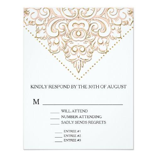 Typography wedding menu rsvp w menu choice elegant formal modern typography wedding menu rsvp w menu choice elegant formal modern lace card stopboris Images