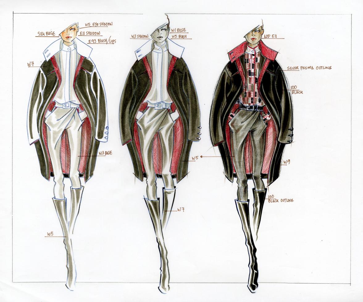 Drawing Jacket on Figure - Step 3