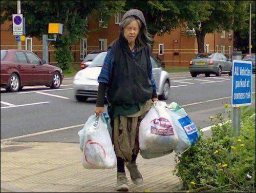 Crazy bag lady manchester