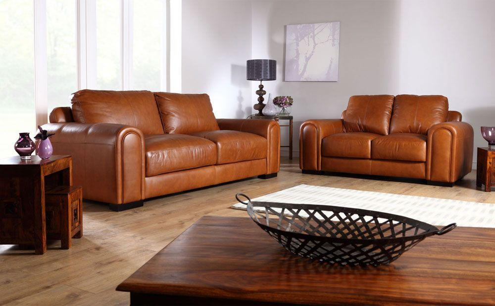 Brown Leather Sofa - Home Ideas in 2020   Tan leather sofa ...
