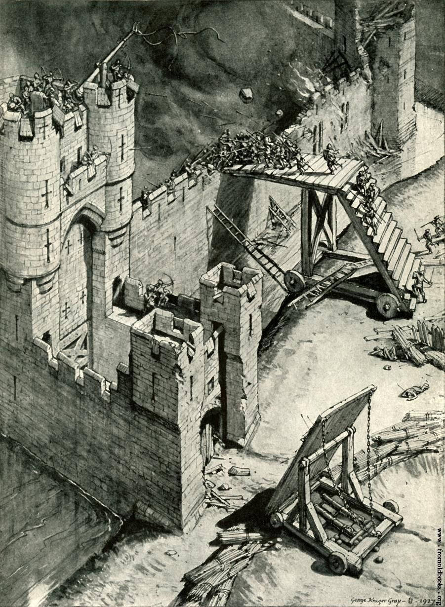 a report on the medieval weapons and the military tactics of invading castles The tudor period saw the gradual evolution of england's medieval army into a   step, seeing as it seemed, on several occasions, that england would be invaded   castle, northumberland, before flodden and henry viii used siege guns to   drafted (especially to ireland) and new weapons and tactics were employed.