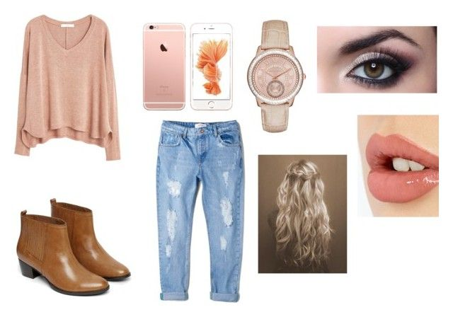 """Casual Day Wear For School"" by qkamaizo0501 on Polyvore featuring MANGO, Warehouse, Charlotte Tilbury and MICHAEL Michael Kors"