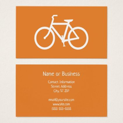Orange and white bicycle business card business cards bicycling orange and white bicycle business card business cards bicycling and business colourmoves