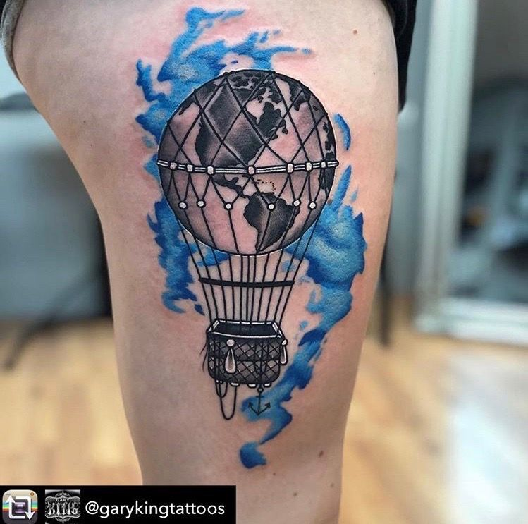 Pin By Danielle Swartz On Tattoos In 2020 Air Balloon Tattoo
