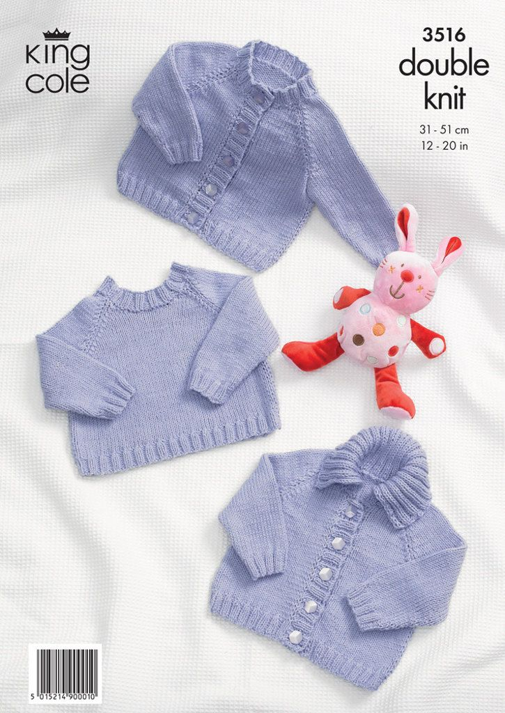 Simple Baby Cardigans and Sweaters in King Cole Cottonsoft DK - 3516 ...