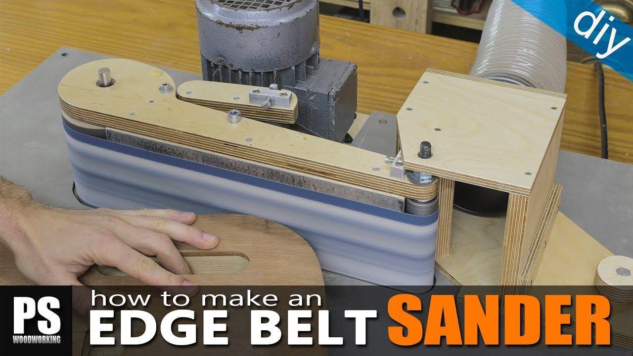 homemade edge belt sander / part1 | . woodworking