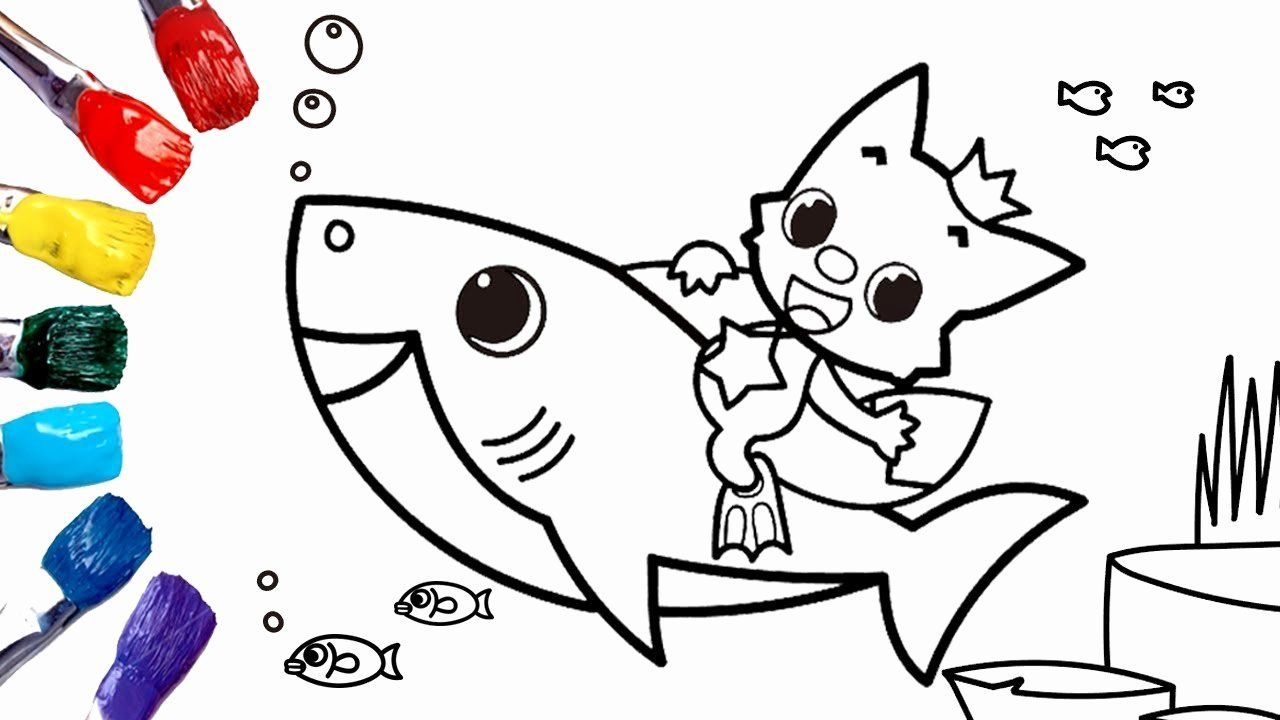 Baby Shark Coloring Page Awesome Baby Shark Nursery Rhyme Coloring Pages For Kids 1080p Shark Coloring Pages Bunny Coloring Pages Coloring Pages