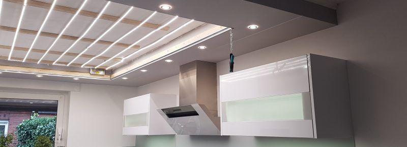 Vorher Spanndecke Indirekt Beleuchtet In 2020 Spanndecken Esszimmer Weiss Decke