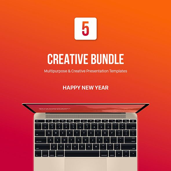special five new year powerpoint template bundle | powerpoint, Presentation templates