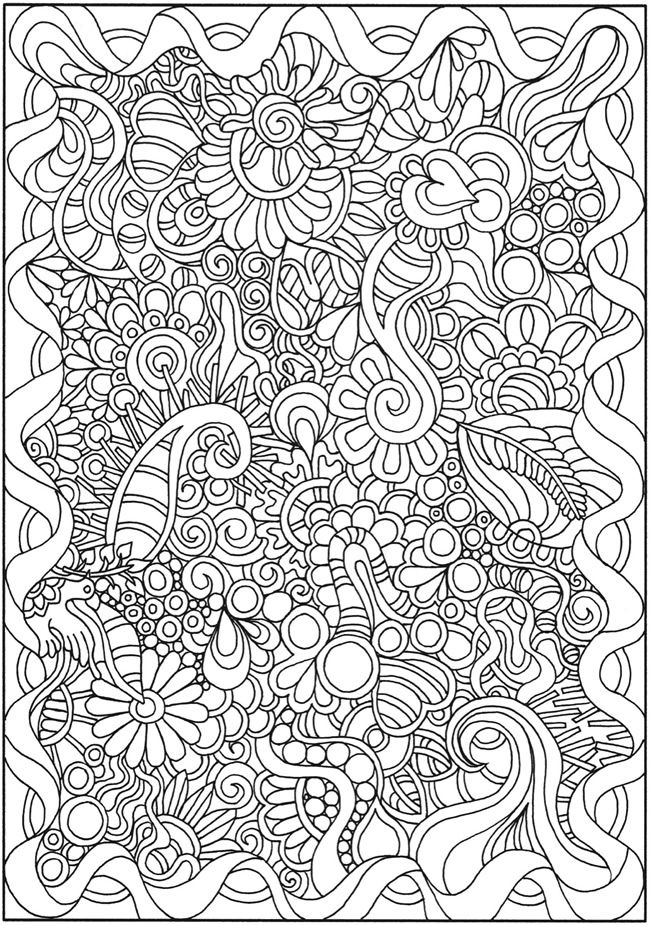 Doodle Coloring pages colouring adult detailed advanced printable Kleuren voor volwassenen coloriage pour adulte anti-stress kleurplaat voor volwassenen Line Art Black and White Welcome to Dover Publications