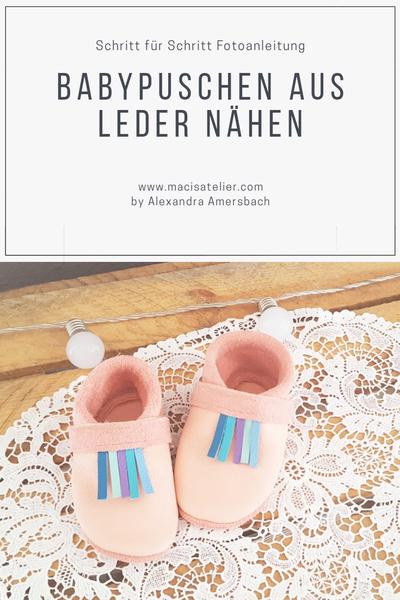 Klimperklein Babypuschen aus Leder nähen – Die moderne Nähschule #Häkeltasc…